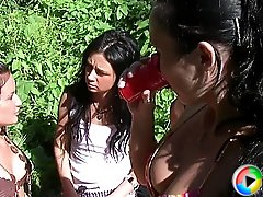 3 movies - Sex crazed college girls have wild group fuck at the picnic