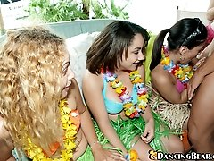 16 pictures - Luau girls love to suck cock